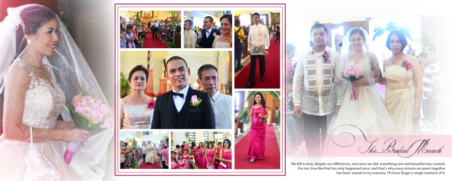 Carlo Buluran & May Cunanan Wedding Jenice Zaira Fotografia, Wedding Photography Philippines, Wedding Photographer, Carlo Buluran & May Cunanan Wedding - SPREAD 11- The Bridal March