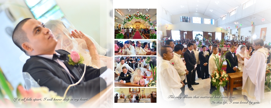 Carlo Buluran & May Cunanan Wedding Jenice Zaira Fotografia, Wedding Photography Philippines, Wedding Photographer, Carlo Buluran & May Cunanan Wedding - SPREAD 12- Bride and Groom at the Ceremony