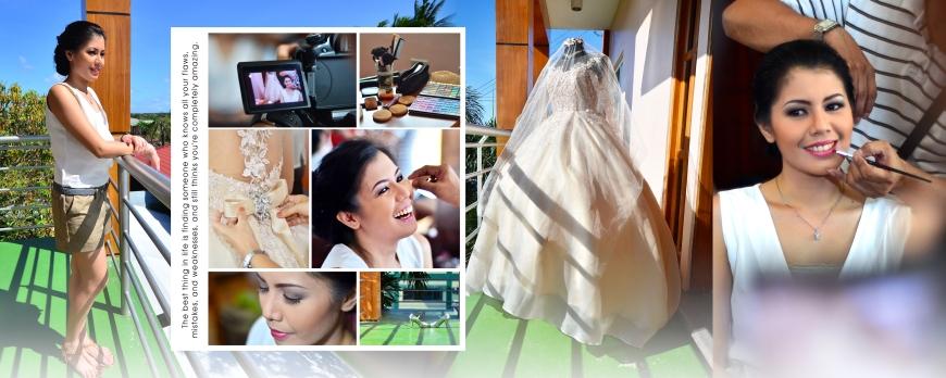 Carlo and May - SPREAD 2- Bride's Preparation - Bulacan