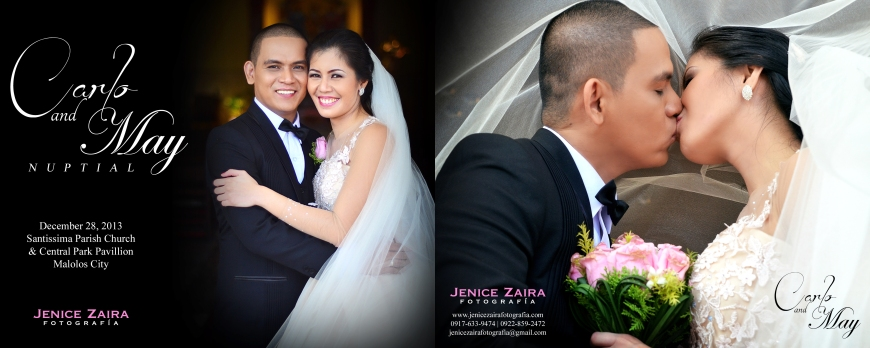 Carlo and May Wedding - Bulacan - SPREAD 20 - COVER