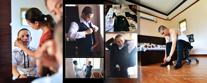 SPREAD 4- Groom's Preparation