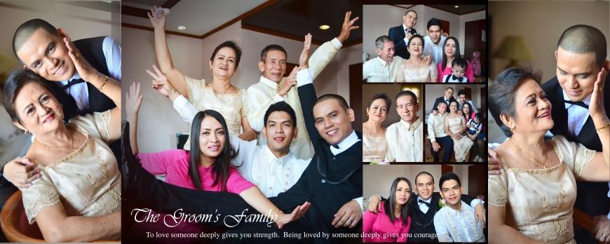 Carlo Buluran & May Cunanan Wedding Jenice Zaira Fotografia, Wedding Photography Philippines, Wedding Photographer, Carlo Buluran & May Cunanan Wedding -  SPREAD 9 - the Groom's family
