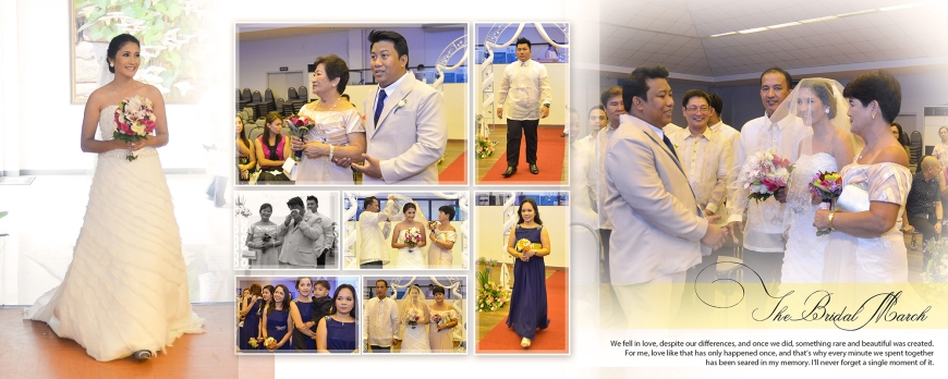 ML-Malolos Bulacan Wedding Photography Album -SPREAD 10- The Bridal March