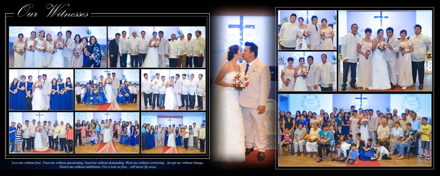 ML-Malolos Bulacan Wedding Photography Album -SPREAD 13- The Witnesses
