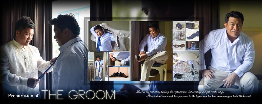 ML-Malolos Bulacan Wedding Photography Album -SPREAD 2- The Groom's Preparation
