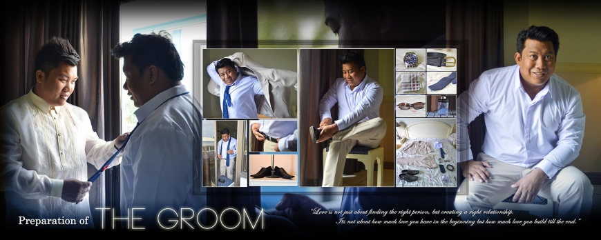 ML-Malolos Bulacan Wedding Photography Album -SPREAD 2- The Groom's Preparation