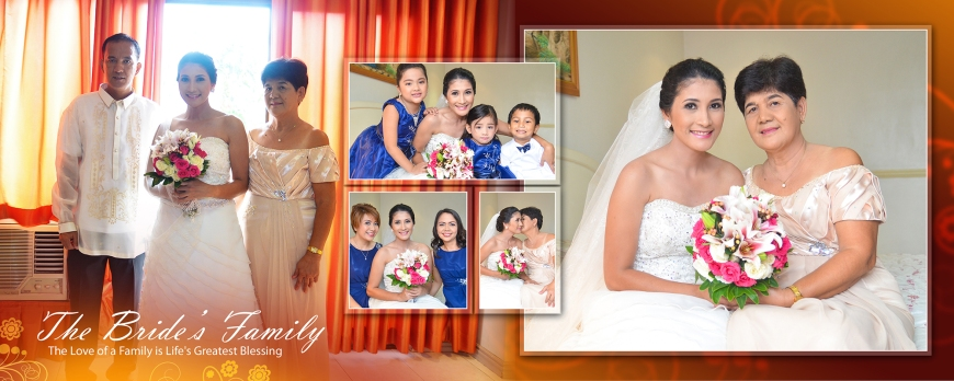ML-Malolos Bulacan Wedding Photography Album -SPREAD 6- Bride's Family