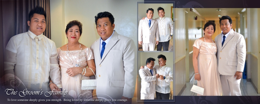 ML-Malolos Bulacan Wedding Photography Album -SPREAD 7- Groom's Family