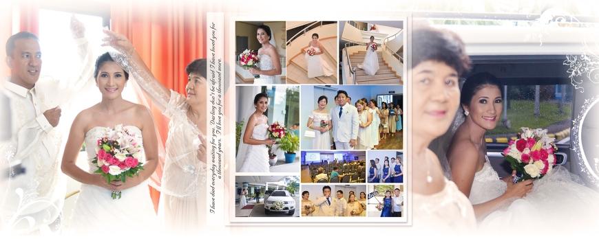 ML-Malolos Bulacan Wedding Photography Album -SPREAD 8- Bridesmaids - Going to Church - The Entrance