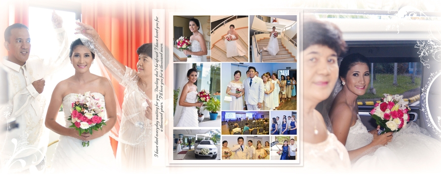 ML-Malolos Bulacan Wedding Photography Album -SPREAD 8- Bridesmaids - Going to Church - The Entrance