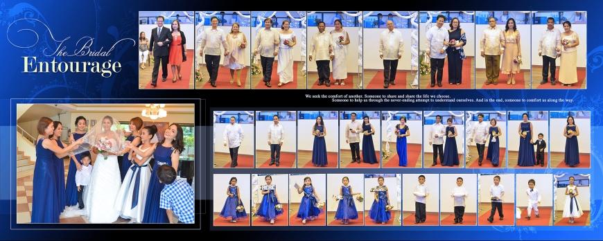 ML-Malolos Bulacan Wedding Photography Album -SPREAD 9- The Bridal Entourage